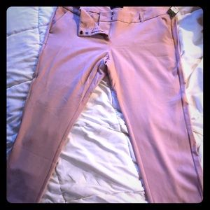 Cropped dressy casual pants.